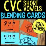 Blending Cards for CVC Words & Pocket Chart Cards for CVC Words