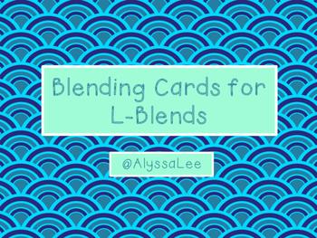 Blending Cards for L-Blends -Orton Gillingham