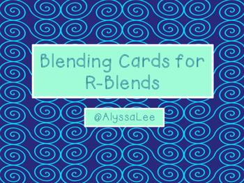 Blending Cards for R-Blends-Orton Gillingham