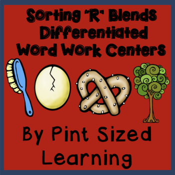 """Blending Centers-Differentiated """"R"""" Blends Word Work Centers"""
