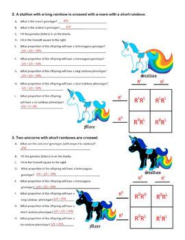 Dominance Worksheet (Blending Punnett Square Worksheet)