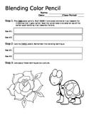 Blending Color Pencil Worksheet