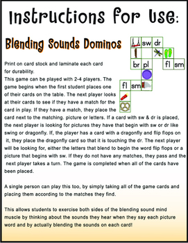 Blending Consonants Game and Worksheet Bundle