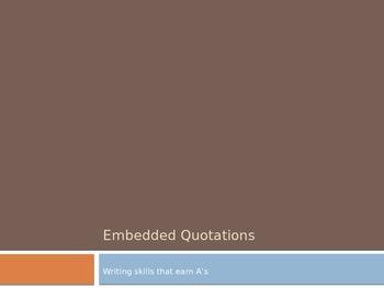 Blending Embedded Quotations