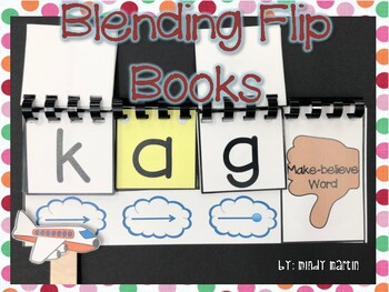 Blending Flip books Real and Nonsense CVC words