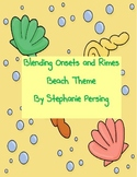 Blending Onsets and Rimes- Beach Theme