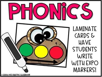 Blending Phonemes CVC words Literacy Centers - Blending Hot Potato Game Cards