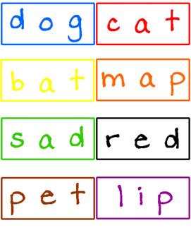 Blending Phonemes Color, Read & Write!