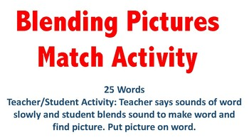 Blending Picture Match Activity (25 Cards)