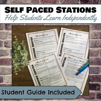 Blending Quotes (Embedding Quotes) Stations for grades 6-10 ELA