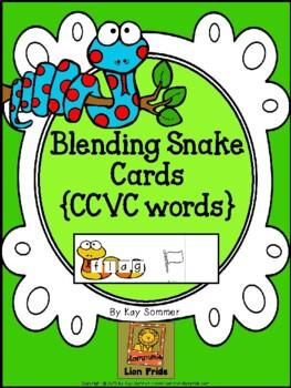Blending Snake Cards {CCVC words}