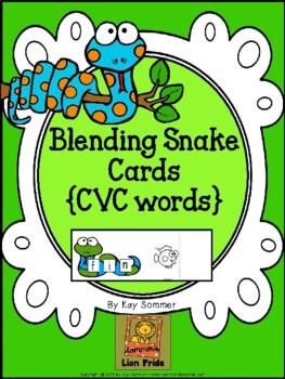 Blending Snake Cards {CVC words}