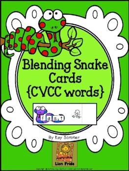 Blending Snake Cards {CVCC words}