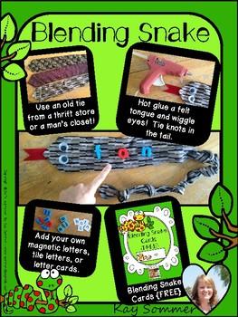 Blending Snake Cards {FREE}
