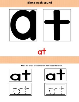 Blending Sounds: Letters a,t,s,i,n,p