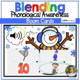 Blending Sounds Words Digital Snowman Game Boom Cards   Di