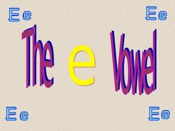 Blending The E Vowel