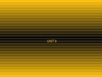Blending Unit 8