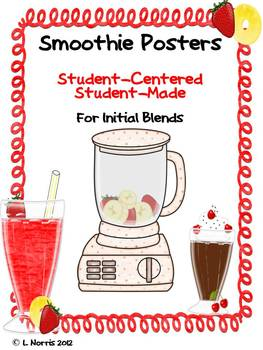 Initial Blends and Posters Bundle for Literacy Centers