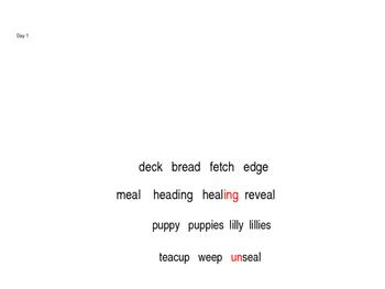 Blending Whole Words Unit 9