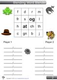 Blending Word Blender Game for 'at' and 'og'