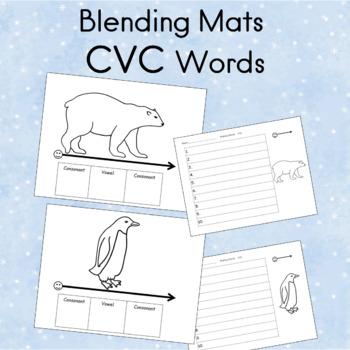 Blending Word Mats CVC Phonemic Awareness