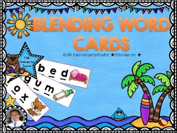 Blending Words CVC Cards Using Arrows