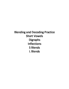 Blending and Decoding Phonics Practice - Short Vowels, Digraphs, & Blends