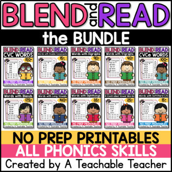Blending Sounds and Reading Words BUNDLE