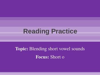Blending and Reading: Short O Rimes