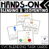 Blending and Segmenting - Hands On Differentiated CVC Task Cards