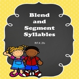 Blending and Segmenting Syllables Activity