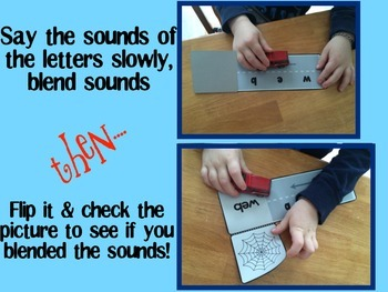 Blending and decoding activity for four letter words - Hands on approach
