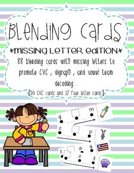 Blending cards - missing letter edition!