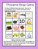 Blending phonemes bingo