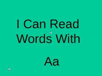 Blending  the A vowel