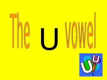 Blending the /U/ vowel with letter animation