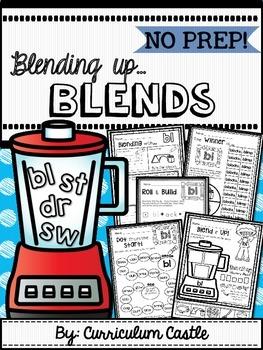 Blends Interactive Printables {NO PREP}