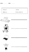 Blending with short sound (a) worksheets