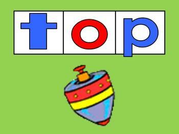 Blending words with short vowels PowerPoint BUNDLE- Kindergarten- 1st