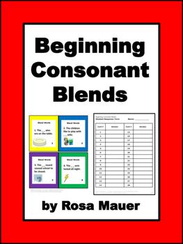 Consonant Blends Task Cards