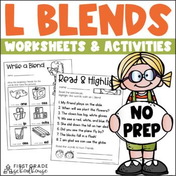 L Blends Word Work