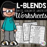 L Blends Worksheets | Phonics Practice Pages