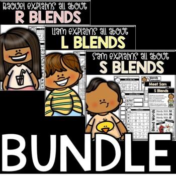 Blends Bundle: Explain-It-All Series (L Blends, R Blends, S Blends)