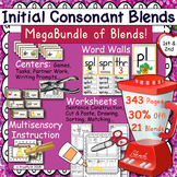 Blends BUNDLE ~Word Wall, Word Work, Activities, and  Punchers