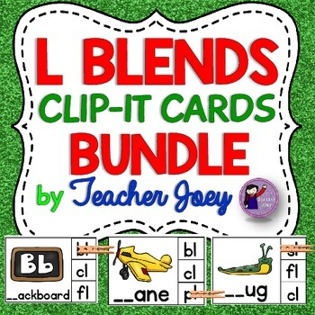 Blends Clip Cards Bundle : Blends Activities