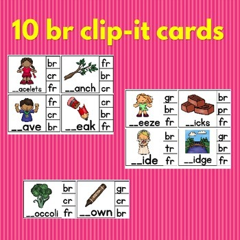 Blends Activities : Clip Cards