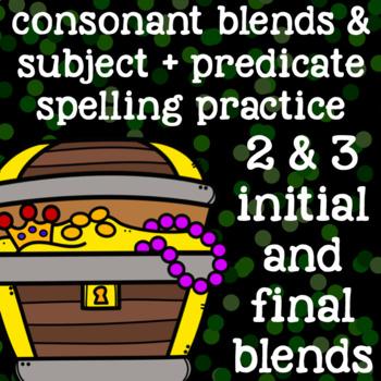 2 Consonant Blends, 3 Consonant Blends - Spelling/Word Work - 2nd Grade
