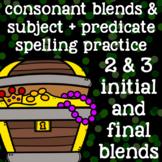 2 Consonant Blends, 3 Consonant Blends - Spelling/Word Wor