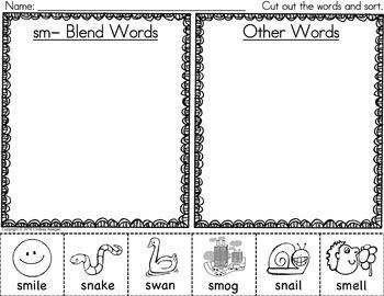 S Blends Activities Bundle